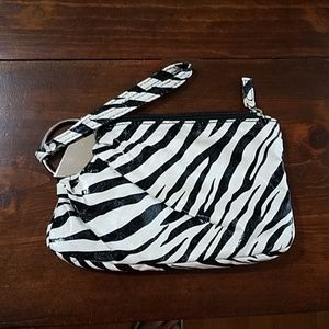 Handbags - Black and White zebra women's wristlet